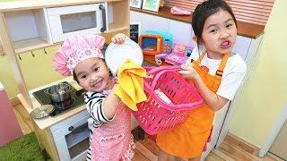 食玩汉堡薯条 過家家角色扮演 廚房遊戲 亲子互动 短剧糖果玩具~Pretend Play Cute Kitchen Restaurant Toy Cooking Food Kids Playset