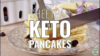 Sheetpan Keto Pancakes (coconut flour) - only 1.8g net carbs each keto pancake