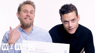Rami Malek & Charlie Hunnam Answer the Web's Most Searched Questions | WIRED