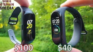 MI BAND 4 VS. SAMSUNG GALAXY FIT (Honest Comparison and Testing Side by Side)