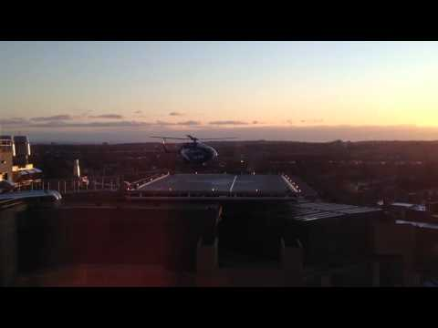 Lifestar landing at Yale New Haven Hospital.