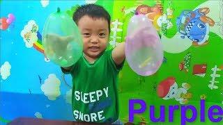 Learn Colors with Balloons Em Cò học màu sắc với bóng bay và kẹo