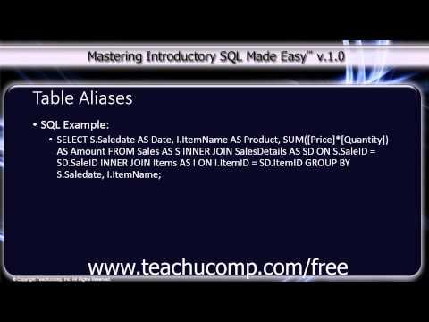 Header of Aliases