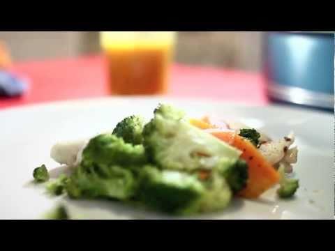 Pescado y verduras al vapor - Cocina tu Refri 90 - Steamed Fish