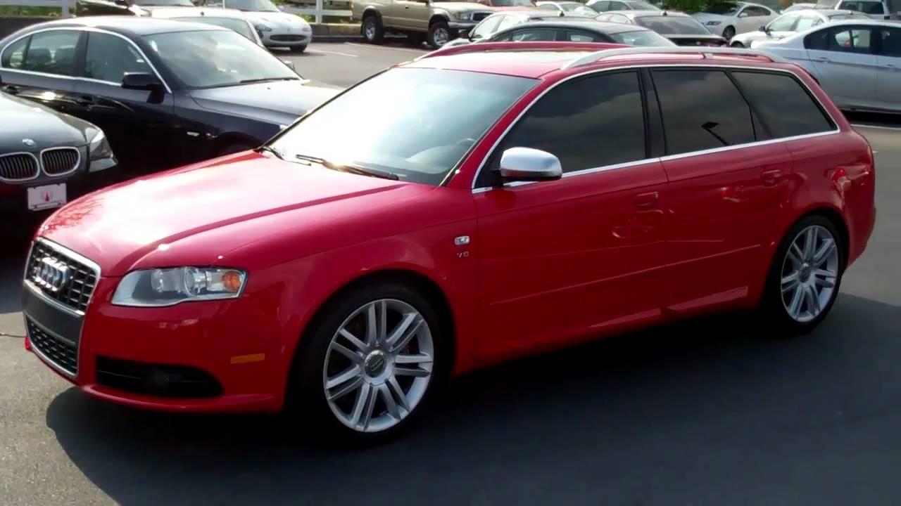 2007 Audi S4 Avant Red Manual Transmission Youtube