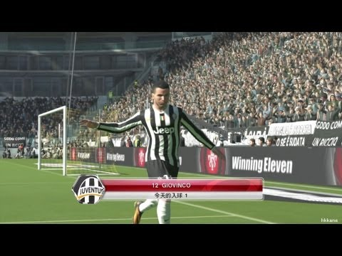Pro Evolution Soccer 2014 Juventus F.C. VS AC Milan XBOX360 Gameplay