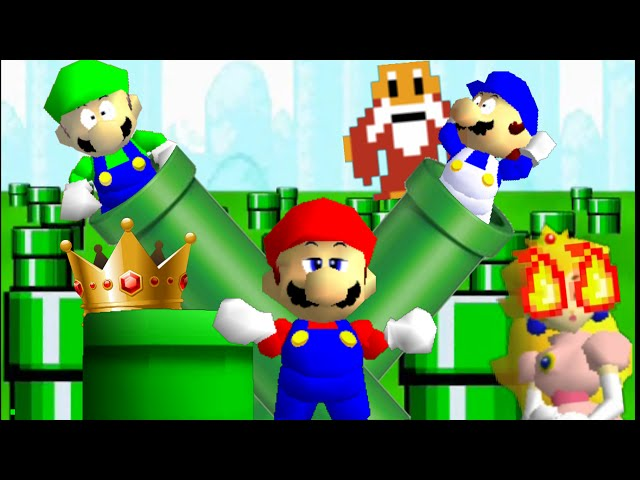super mario 64 bloopers: Problematic Pipe problems - YouTube