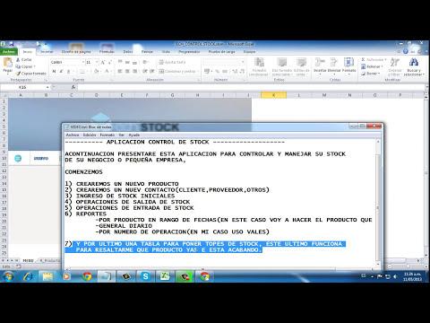 Control de Almacen Excel-Access