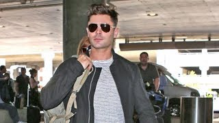 Zac Efron Asked If He's Routing For Mayweather Or McGregor While Jetting Out Of L.A.