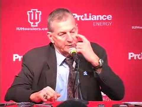 Jim Calhoun after beating the Indiana Hoosiers Video