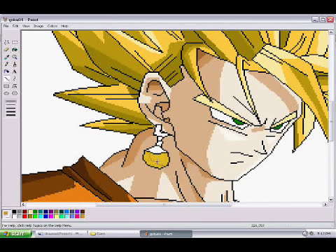 Drawing Son Goku in MS Paint