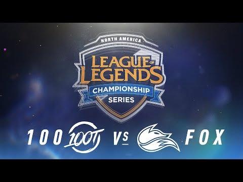 100 vs. FOX - Week 9 Day 2 | NA LCS Spring Split | 100 Thieves vs. Echo Fox(2018)