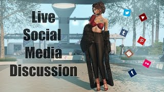 Live Streamed Social Media Discussion in Second Life