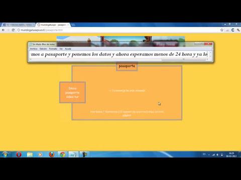 como obtener pasaporte gratis en mundo gaturro 2012