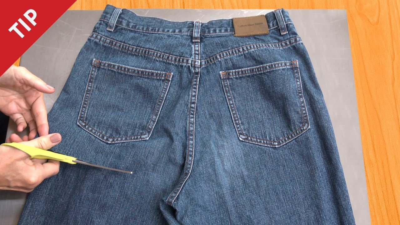 How To Recycle Jeans Into A Garden Apron Chow Tip Youtube