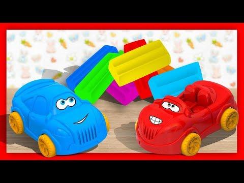 Разноцветный ПЛАСТИЛИН - Лепим из пластилина ВСПЫШ и Чудо машинки. Обучающее видео