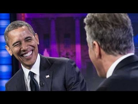 Barack Obama appears on The Daily Show with Jon Stewart