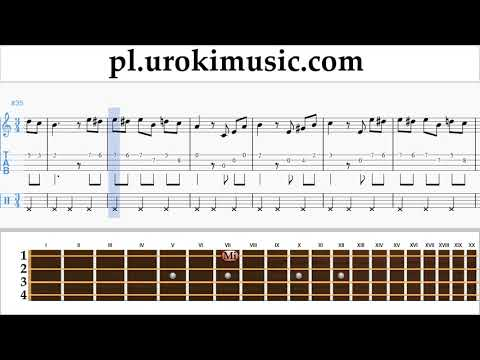 Nauka Gry Na Ukulele Beethoven - Für Elise Nuty Poradnik Część 2 Um-b463