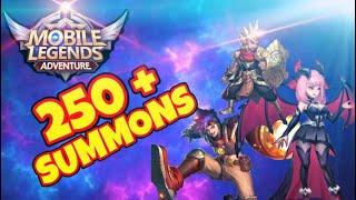250+ SUMMONS AND HUGE TEAM UPGRADES   MLA   Mobile Legends Adventure
