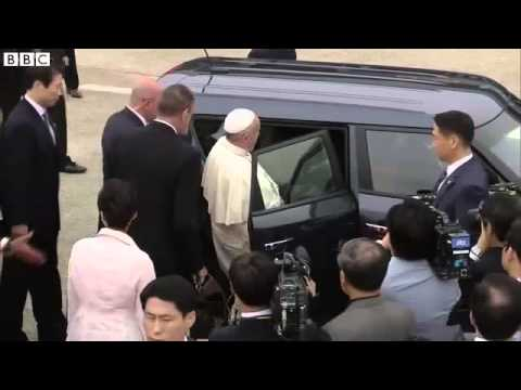 BBC News   Pope Francis arrives in South Korea for first Asia trip