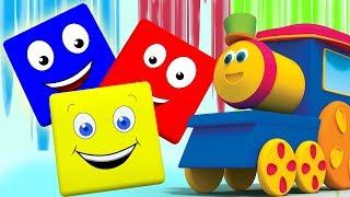 Боба Поезд на Цвет ездить | 3d Мультяшные коллекция | Учебное видео | Цвет Поезд | Bob Color Train