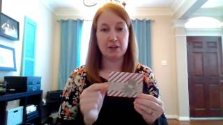 How to make a 5 minute Gift Card Holder using Stampin' Up! scrapbook paper