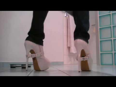 walking in sexy high heels 7 inch 18 cm