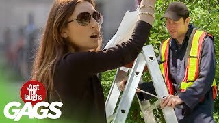 Funny Video – DANGEROUS Ladder Prank