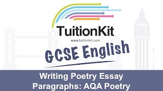 Writing Poetry Essay Paragraphs: Poetry (English Literature)