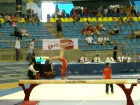 Wu Liufang - Gent CC 2011 Qualifications - Balance Beam