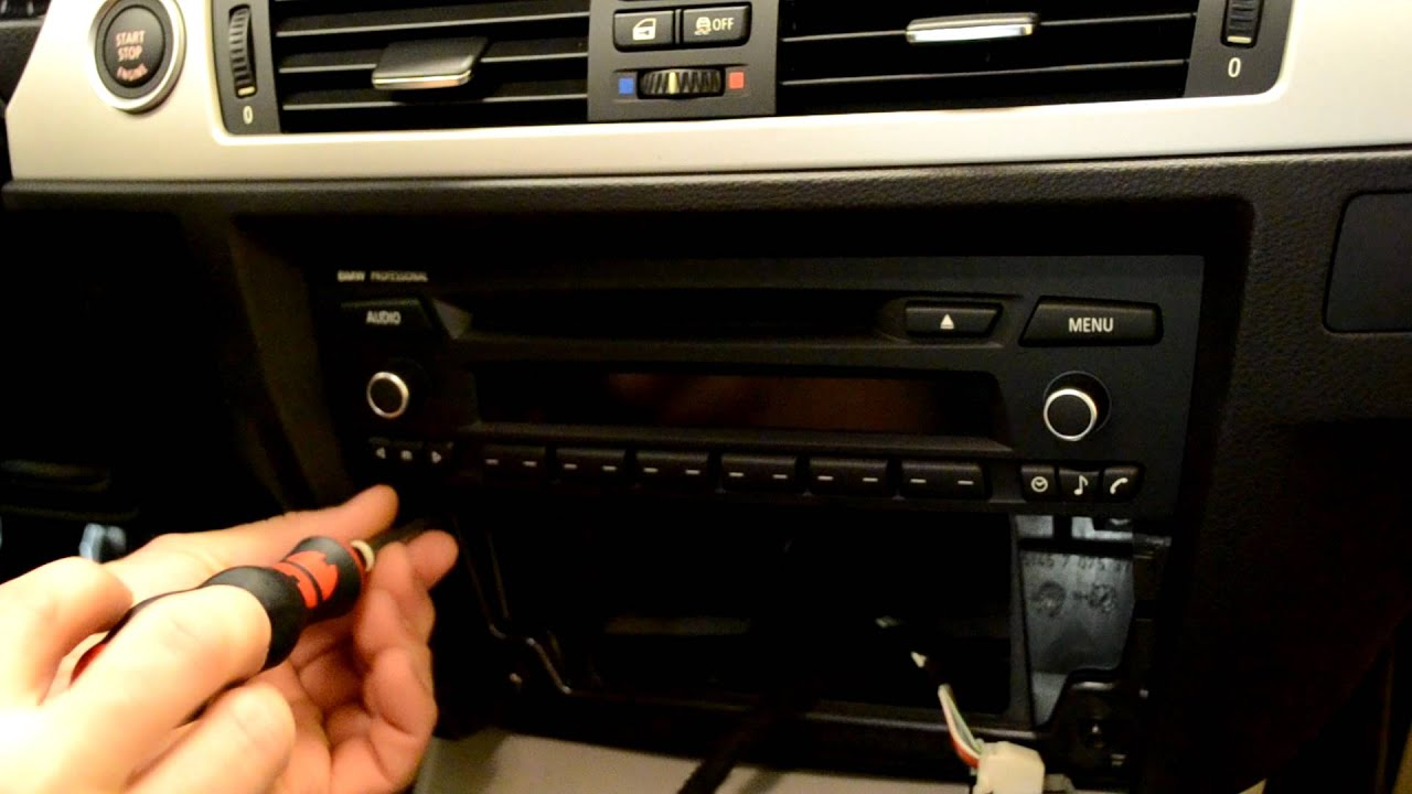 bmw e90 3 series radio professional replacement youtube. Black Bedroom Furniture Sets. Home Design Ideas