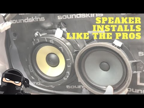 How To Install Car Speakers Like A Pro - Component Speakers