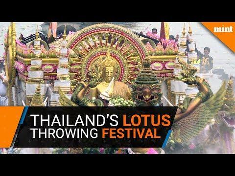 Thailand's Lotus throwing festival