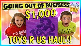 $1,000 TOYS R US SHOPPING HAUL   GOODBYE TOYS R US!   We Are The Davises