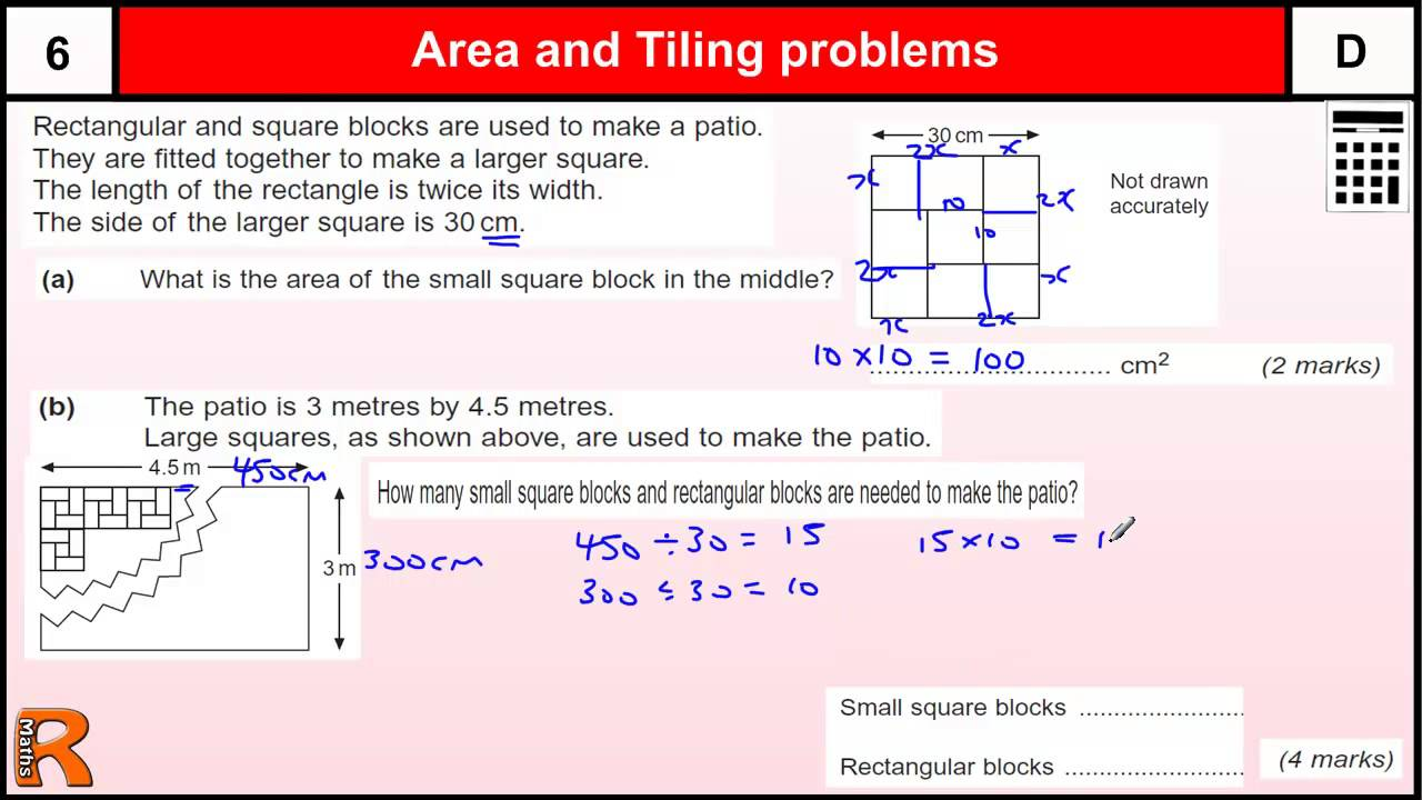 area math problems Each worksheet has 9 problems using a grid to find the area of a right triangle.