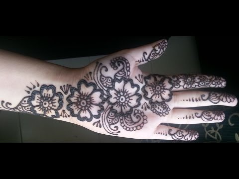 Simple Floral Henna - Arabic fusion style mehndi design video...