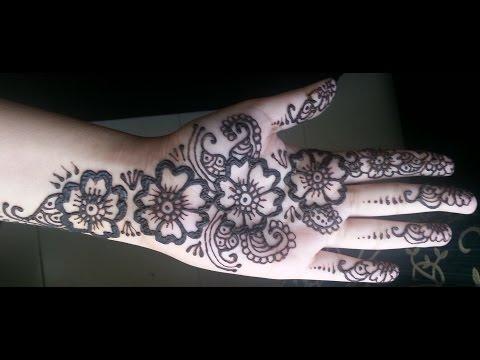 Simple Floral Henna - Arabic fusion style mehndi design video