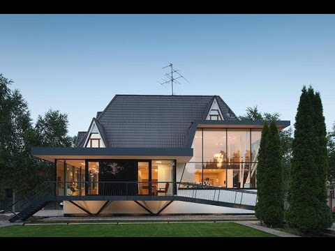 Modern european cottage combination of modern house for Traditional and modern houses