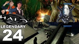 IT'S THE FLOOD!!! - Let's Play: LEGENDARY Halo: Combat Evolved Anniversary Part 24