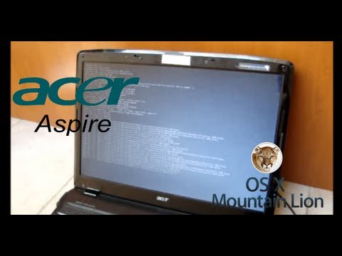 [Tutorial] Booting Mac OS X Mountain Lion on Acer Aspire 7730g laptop
