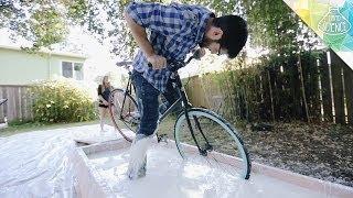 Biking Across a Pool of Cornstarch - Hard Science