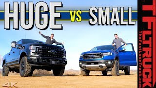 Does Size Really Matter?  We Compare The New 2020 Ford F-250 Tremor to The Ford Ranger FX4 Pickup!