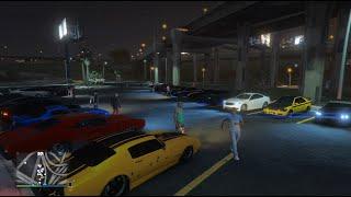 GTA 5 Online (Xbox One) | Street Car Meet | Elegy RH8, Cruise, Dock Drags, & More