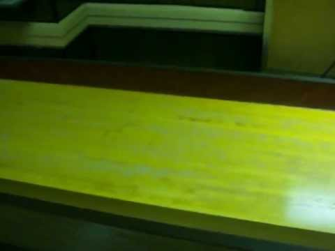 Full Sixe American Shuffleboard Table, Lights & Scoreboard For Sale video