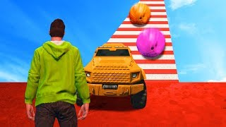 EXTREME HUMAN AVALANCHE BOWLING! (GTA 5 Funny Moments)