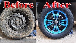 تجديد الجنوط القديمة بشكل محترف ورخيص واليك الخطوات paint car rims