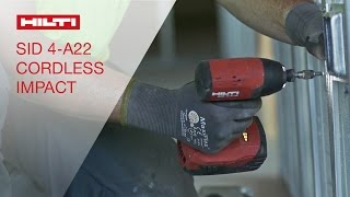 TESTIMONIALS by customers about the Hilti SID 4-A22 cordless impact driver