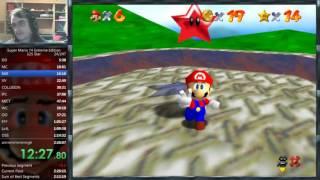 Super Mario 74 Extreme Edition 125 star speedrun in 2:22:40