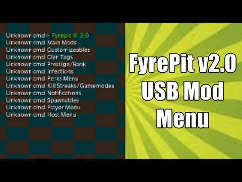 World At War: Best USB Mod Menu - FyrePit v2.0