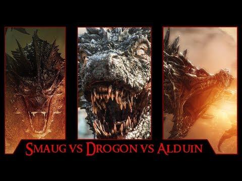 Smaug Vs Drogon Vs Alduin Hypothetical Dragon Battle